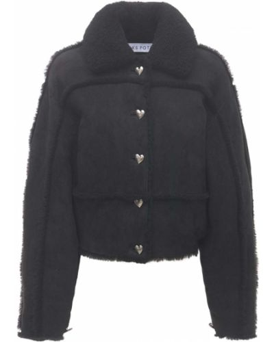Черная куртка на резинке Saks Potts