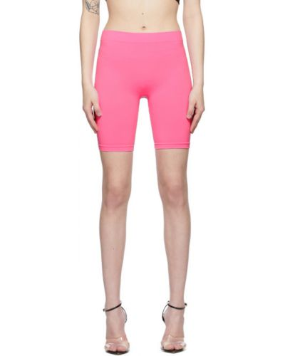 Розовые трикотажные шорты стрейч Helmut Lang
