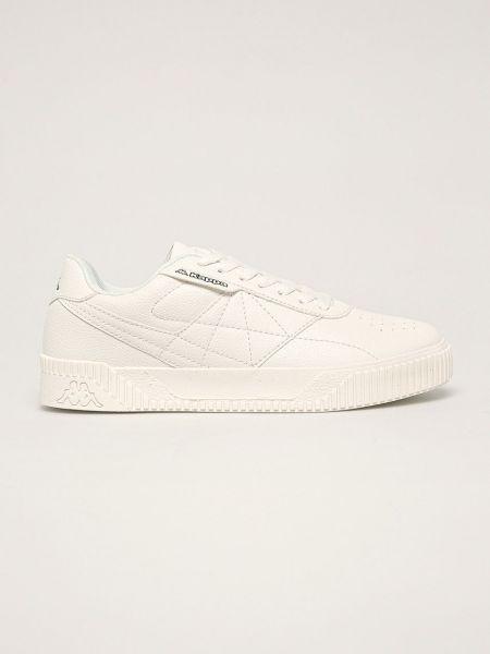 Текстильные белые кроссовки круглые Kappa