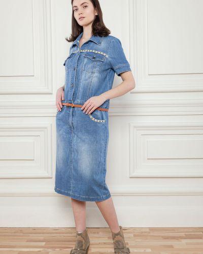 Джинсовое платье миди - синее Dolcedonna