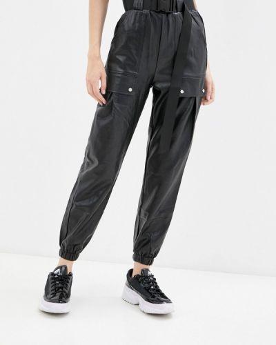 Кожаные брюки - черные Allegri