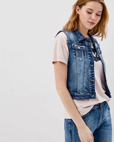 Жилетка джинсовая синий G&g