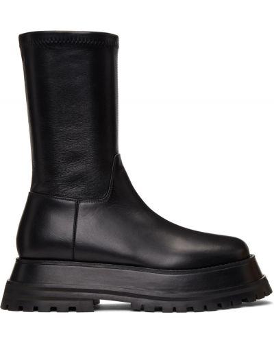 Черные кожаные ботинки Burberry