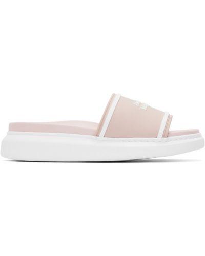 Różowe sandały w paski kwarc Alexander Mcqueen