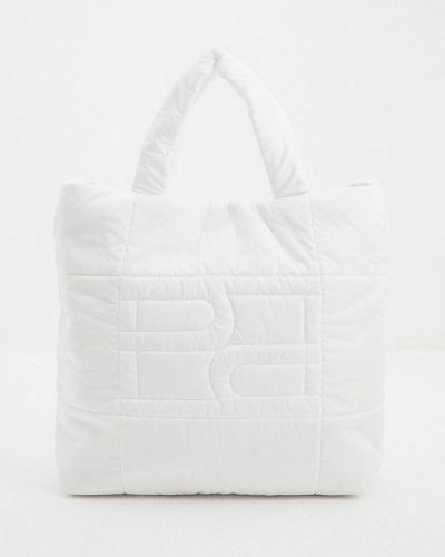 Текстильная белая сумка с ручками Hogl