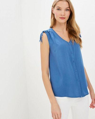 Блузка без рукавов синяя весенний Sela