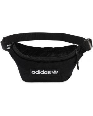 Поясная сумка бархатная с пряжкой Adidas Originals
