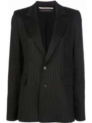 Шерстяной черный пиджак с карманами Roland Mouret
