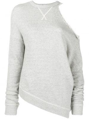Bluza z długimi rękawami asymetryczna bawełniana R13