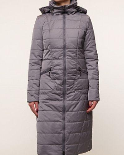 Серое пальто с капюшоном каляев