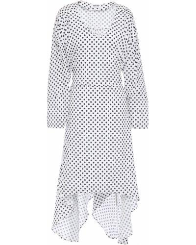 Плиссированное белое платье с подкладкой Each X Other