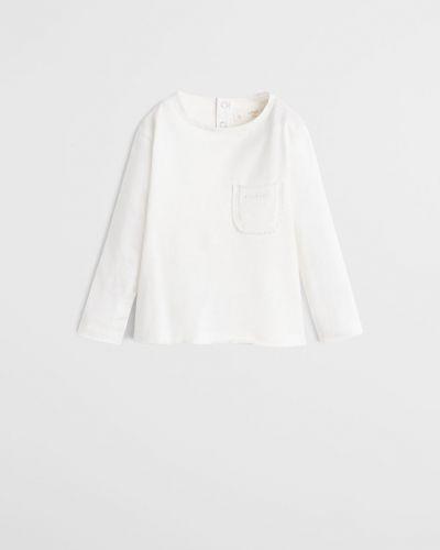 Блуза белая с карманами Mango Kids