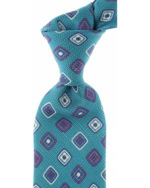 Fioletowy krawat z jedwabiu Kiton