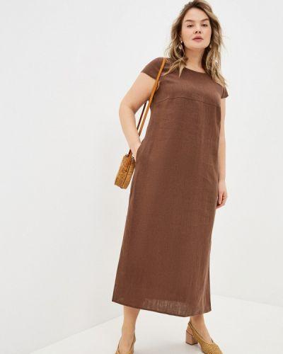 Коричневое повседневное платье Gabriela