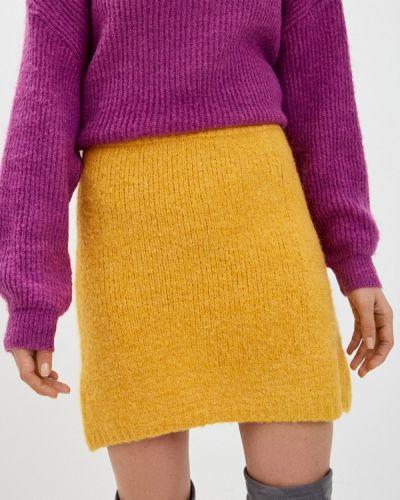 Желтая прямая юбка карандаш By Swan