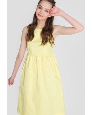 Платье с завышенной талией шелковое Ostin