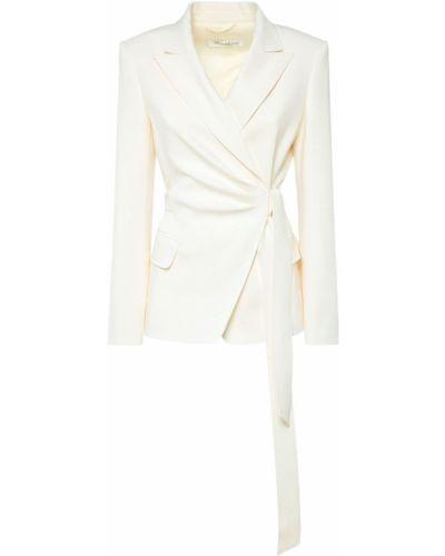 Шерстяная белая куртка с карманами Max Mara