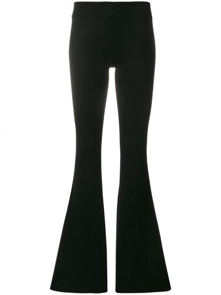Czarne spodnie z wiskozy rozkloszowane Galvan