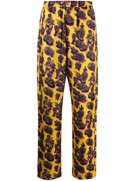 Шелковые с завышенной талией укороченные брюки с поясом Stella Mccartney