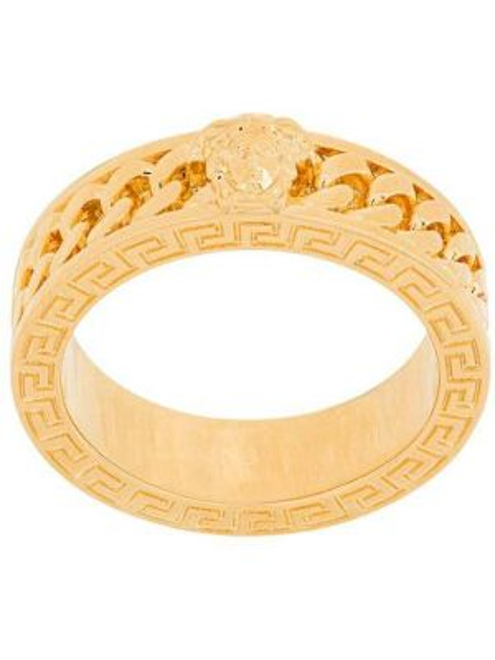 Кольцо с декоративной отделкой из золота Versace