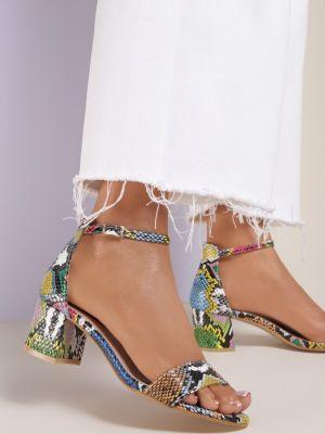 Czarne sandały materiałowe Renee