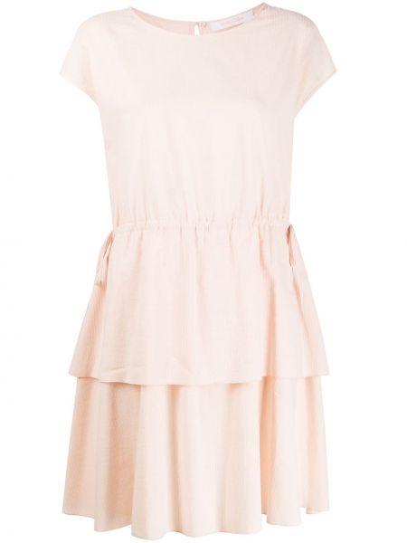 Платье мини прямое с рукавами See By Chloe