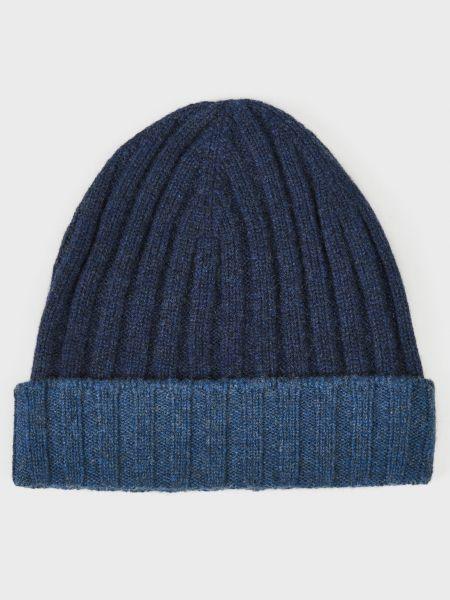 Кашемировая шапка - синяя Barba Napoli