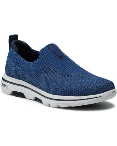 Półbuty casual - niebieskie Skechers