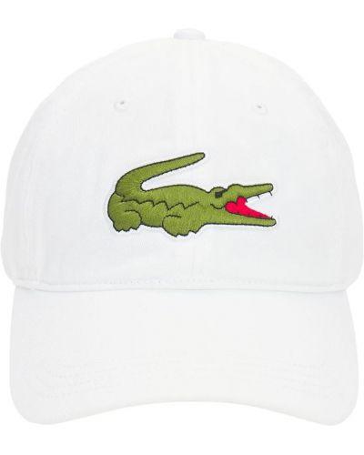 Klasyczny biały kapelusz bawełniany Lacoste