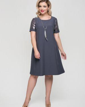 Платье мини с пайетками на пуговицах тм леди агата