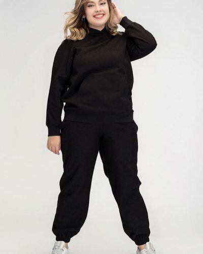 Костюмный черный спортивный костюм авантюра Plus Size Fashion