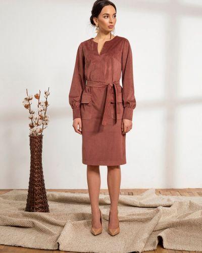 Платье вельветовое - розовое Dressa