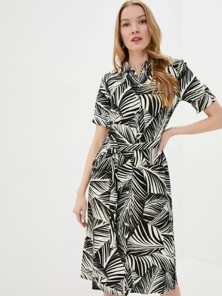 Платье платье-рубашка черное Wallis