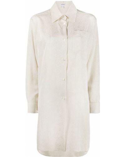 Шелковая классическая рубашка с карманами с воротником на пуговицах Loewe