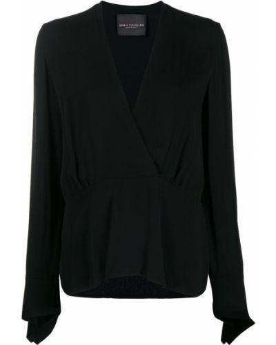 Блузка с длинным рукавом в полоску с запахом Erika Cavallini