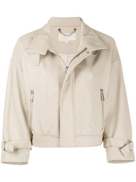 Кожаная куртка байкерская укороченная Michael Michael Kors
