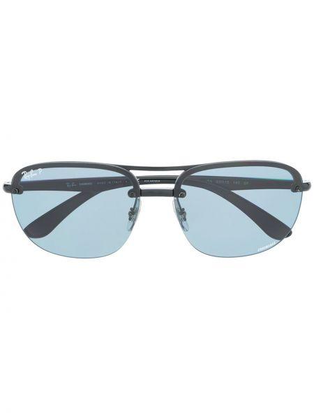 Черные солнцезащитные очки оверсайз Ray-ban