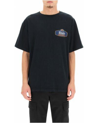 Czarna t-shirt Rhude