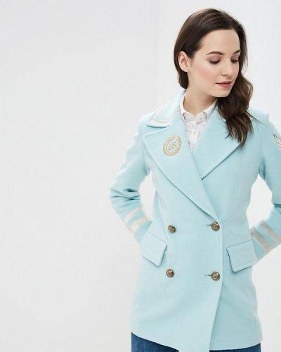 Пальто голубое двубортное Grand Style
