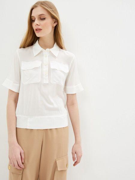 Блузка с коротким рукавом белая весенний United Colors Of Benetton
