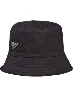 Czarna bucket hat Prada