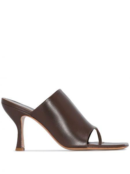 Мюли - коричневые Gia Couture