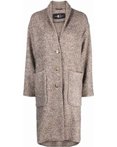 Коричневое пальто на пуговицах Luisa Cerano