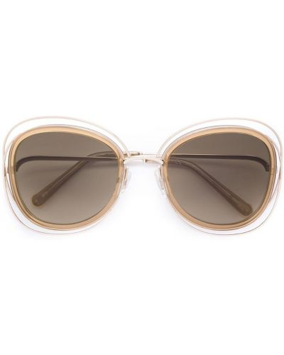 Бежевые солнцезащитные очки Chloé Eyewear