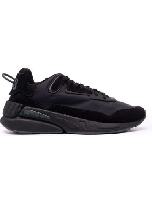 Кроссовки на шнуровке - черные Diesel