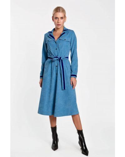 Платье вельветовое - голубое Nenka