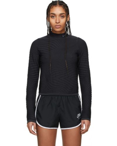 Nylon czarny golf rozciągać z kołnierzem Nike