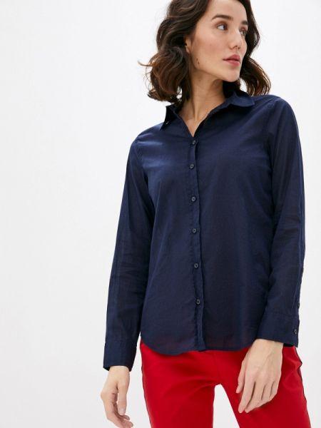 Рубашка с длинным рукавом синяя United Colors Of Benetton