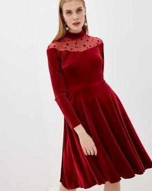 Платье бордовый прямое Self Made