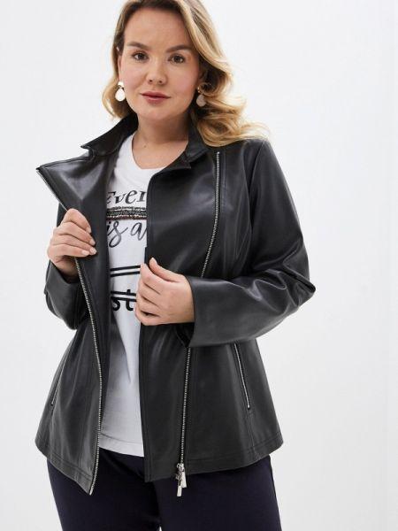 Кожаная куртка черная весенняя Persona By Marina Rinaldi